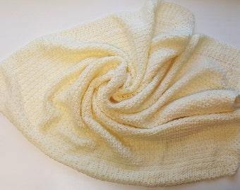 Muted Yellow Baby Blanket