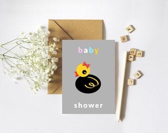 Duckie A6 Digital Download Babyshower invite