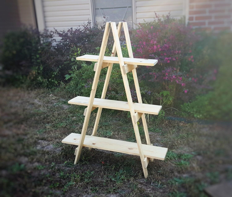 Ladder Shelf 4 Ft Wooden Ladder Craft Fair Display