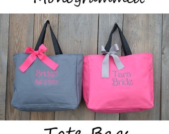 Personalized Bridesmaids Gift, Tote Bag, Monogrammed Tote, Bridesmaid Tote, Personalized Tote