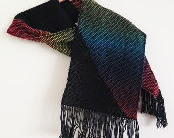Black rainbow scarf