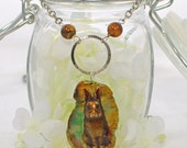 Brown Bunny Rabbit Necklace Forest - Bunny Pendant - Bunny Rabbit - Green and Brown Agate Necklace