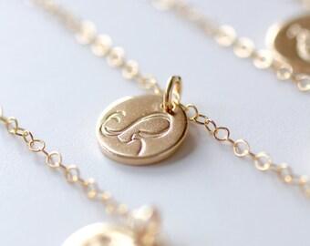 Virgo Necklace, Zodiac Necklace, Gold Virgo Necklace, Zodiac Jewelry, September Birthday Gift, Maiden Virgo Sign, Best Friend Gift, Small