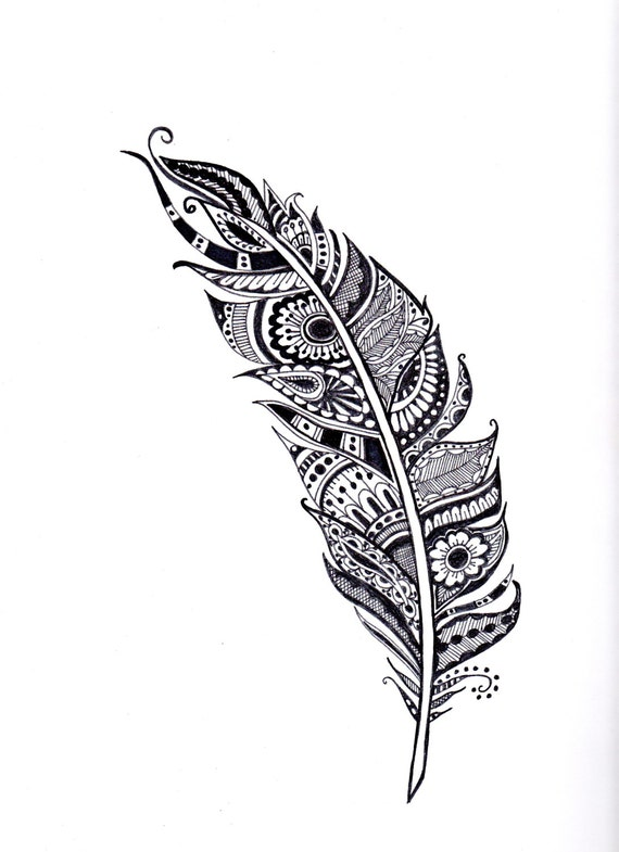 Items similar to henna feather