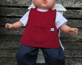 14 to 15 inch baby doll pinafore outfit- oops