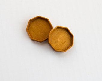 Octagon bezel trays fine finished hardwood - Mahogany - 32 mm Cavity - (F82-W) - Set of 2