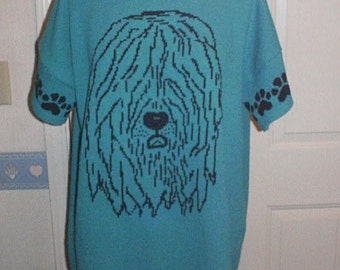 Custom Knit Old English Sheepdog Sweater ****Create your own sweater see below*****
