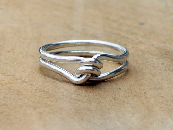 promise ring silver knot ring knotted ring by intrepidsoulmate