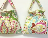 My Sister and Me Set of 2 Little Girls Quilted Drawstring Bags Kumari Gardens