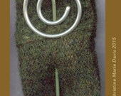 knitting needle SHAWL pin - great gifts for knitters and handweavers.. scarf - sweater or shawl pin - Group1