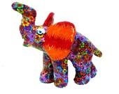 elephant decor ,Elephant sculpture,elephant art,Home design, home decor elephant, Ar, polymer clay, colorful.