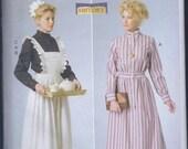 Butterick 6229 Misses Women's Edwardian Schoolmarm Housemaid Dress Costume Apron UNCUT Sewing Pattern