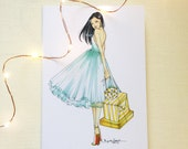 Luxe Lady Fashion Illustration Card