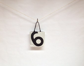 Recycled Sail Cloth Tote - Black Number 6