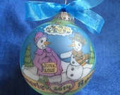 Baby on the Way --- Personalized Ornament, Handpainted Original Keepsake Ornament, Custom-Order