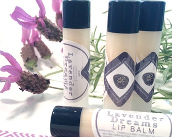 LAVENDER DREAM Soothing Bedtime Shea Butter Natural Vegan Lip Balm