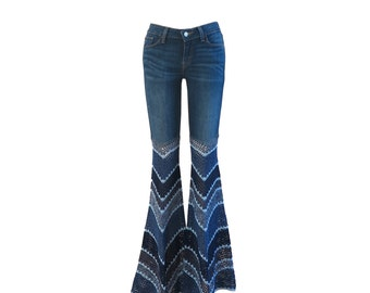 Customize Your Jeans - UpCycle - Send me your jeans to add crochet bellbottoms
