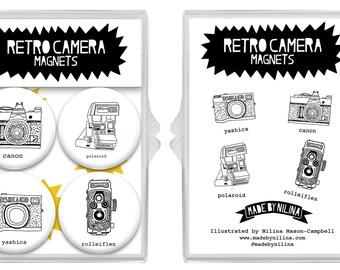 Retro Camera Magnet Set of 4