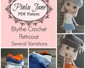 PDF Blythe Crochet Petticoat Pattern Downloadable 4 Styles - Multiple Variations