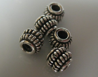 beads-silver beads-sterling silver beads-beading supplies-jewelry supplies-ONE BEAD