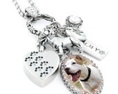 Pet Cremation Urn Necklace, Memorial for Pet, Loss of Pet, Grief Gift, Pet Urn, Dog Remembrance, Pet Ashes, Pit Bull Charm
