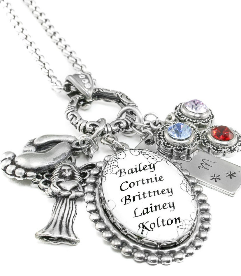s necklace mothers birthstone necklace by