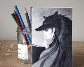 Wolf Girl Notebook - Jotter - Unlined Notebook - A6