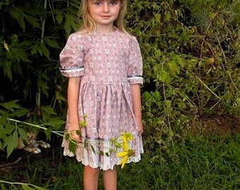 Vintage Little Girls Dress - Upcycled Gunne Sax