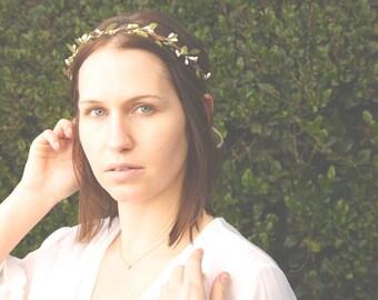 Woodland flower crown - Rustic circlet - Simple wedding hair - Bohemian bridesmaids - Woodland halo - Bridal headpiece - boho bridal