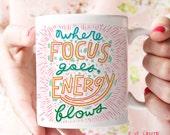 Study Mug, Productivity, Focus, Motivational Mug, Inspirational Mug, Office Organization, Positive Energy, Good Vibe Tribe, Good Vibes Only