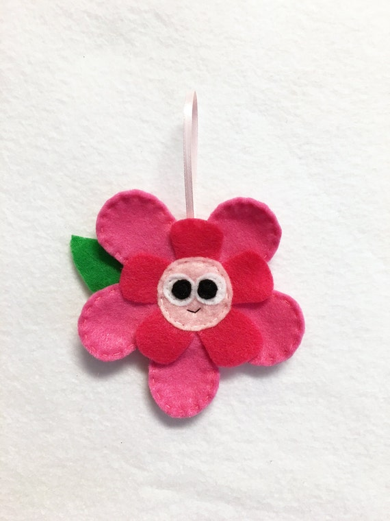 Flower Ornament, Plant, Christmas Ornament, Rose the Flower, Felt Animals, Gift Topper, Spring Decoration