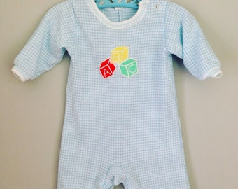 Vintage ABC Carters Baby Romper Outfit 3 months