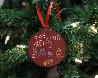Custom Family Ornament, Family name Ornament, Personalized Ornament, Aluminum Family Name Ornament --60025-OR62-600