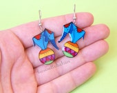 Elephants dangle earrings, Elephant jewelry, Circus funny earrings
