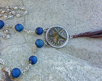 Western Inspired necklace - Victorian Cowgirl Necklace, Star necklace