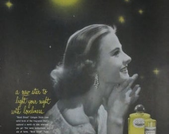 Yardley Stars Bond Street Cologne 1950s Vintage Advertising Wall Art Decor E121