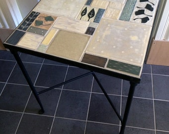Wrought Iron and Handmade Tile Table-Ruchika Madan