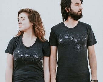 Big Dipper Little Dipper Shirts, Couples Shirts, His and Hers Shirts, Cute Matching Shirts for Couples, Honeymoon Gift for Her, T-shirt Set