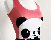 Panda Bear Sleeveless Skater Fit and Flare Dress - Size S-3X