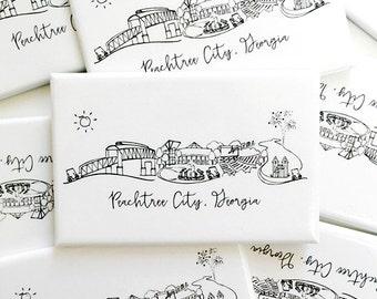 Peachtree City, Georgia Skyline Magnet