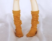 Minifee Doll  socks msd bjd clothes Mustard thigh high socks MonstroDesigns Ready to Ship