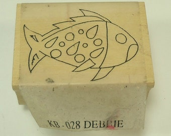 Fish Wood Mounted Rubber Stamp By Katiebug