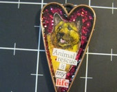 Animal Rescue is My Life Pendant, Lovable Mutt Jewelry, 50% goes to the current selected animal protection charity