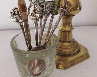 Vintage Mini Spoons Collectible Spoons Souvenir Spoons Canada Souvenir Colorado Gift Buffalo Boho Kitchen Americana Sugar Spoon Aztec Spoon