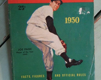 1950 Major League Baseball Facts, Figures Official Rules, Joe Page, 1949 Player of the Year, Ted Williams Red Sox, Jackie Robinson Dodgers