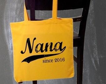 Nana since . screenprinted tote bag