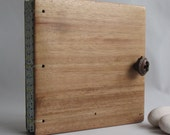 Lined Notebook Diary Dark Wood covers Blue