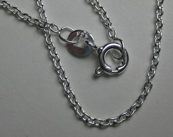 """sterling silver cable necklace chain - 16"""", 18"""", 20"""" or 24"""""""