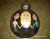 Personalized Sisters Best Friends Custom Ornament Christmas Decor Hand Painted Original Art