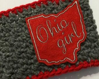 Women's // Crochet Headwrap // Headband // Earwarmer // Ohio Girl / Red // Handmade